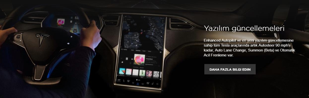 Tesla Model S iç mekan